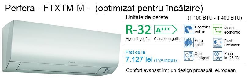 Daikin Perfera (optimizat pentru încălzire) – FTXTM-M