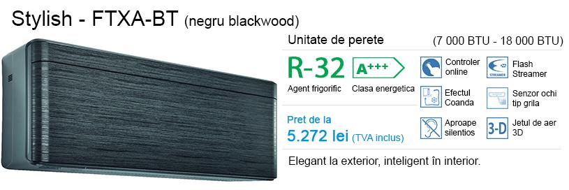 Daikin Stylish (negru blackwood) – FTXA-BT