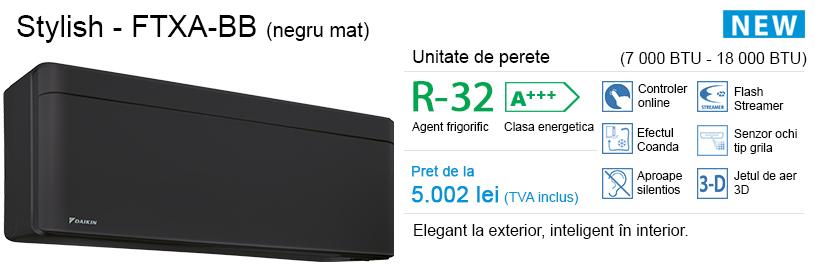 Daikin Stylish (negru mat) – FTXA-BB